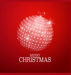xmas greeting card with abstract christmas ball vector image