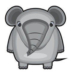 cartoon of a baby elephant vector image vector image