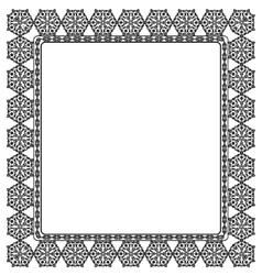 Elegant black frame vector image vector image