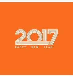 Happy new year 2017 lettering greeting card theme vector image vector image