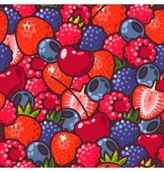 Seamless berries vector image vector image