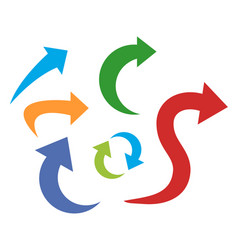 set color arrows vector image