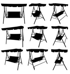 set of different garden swings vector image