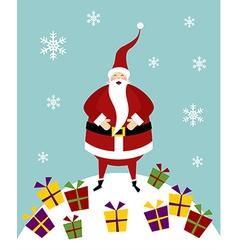 Christmas serie Happy Santa Claus on a snow vector image vector image