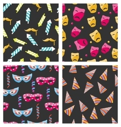Collection Carnival Seamless Textures vector image vector image