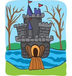 Fairy tale castle drawing vector image