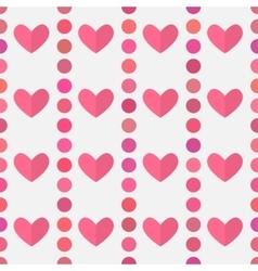 Hearts pink pattern vector image vector image