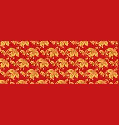 hohloma seamless pattern russian classic decor vector image vector image
