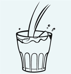 Pouring a glass of milk vector image