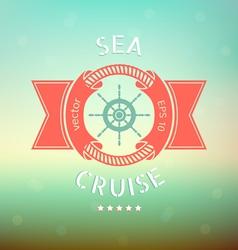 sea cruise vector image vector image