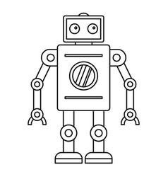 Abstract robot icon outline style vector