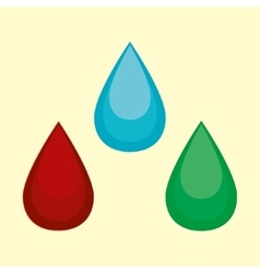 cartoon water blood oil vector image vector image