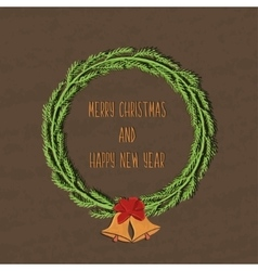 Juicy colorful typographic poster with Christmas vector image vector image