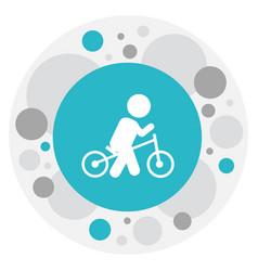 of baby symbol on wheels icon vector image