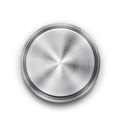 silver metal textured button vector image