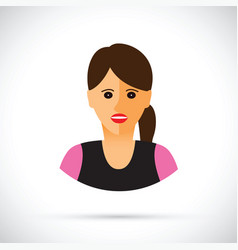 women profile view vector image vector image