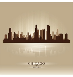 Chicago Illinois skyline city silhouette vector image vector image