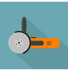 flat angle grinder vector image vector image