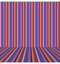 Striped wallpaper on the wall vector image vector image