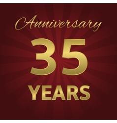35 years anniversary vector image