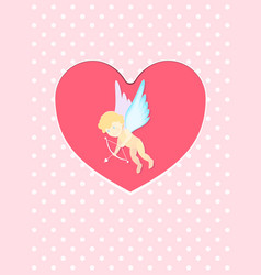 A valentines day cupid ready to vector