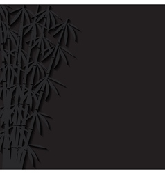 Abstract background with paper bamboo vector