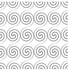 Abstract twirl minimalistic seamless pattern vector