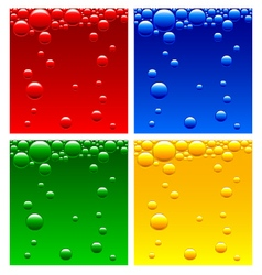 Air bubbles in the liquid of different colors vector image