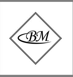 B m joint letter logo monogram design vector