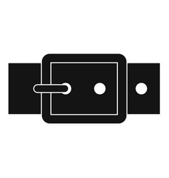 Black buckle belt icon simple style vector