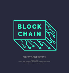 blockchain technology and cryptocurrency vector image
