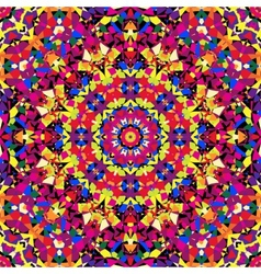 Bright kaleidoscope pattern vector