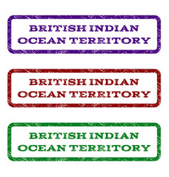 british indian ocean territory watermark stamp vector image
