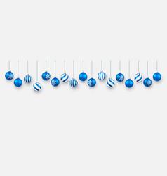 christmas ball xmas ball on white background vector image