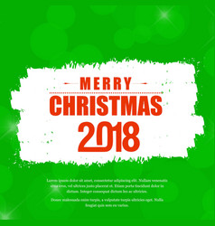Christmas cardwith green background vector