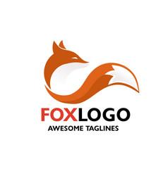 Colorful fox vector