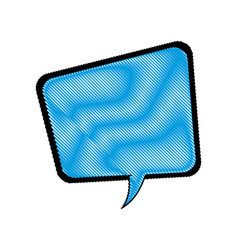Comic speech bubble talking communication vector