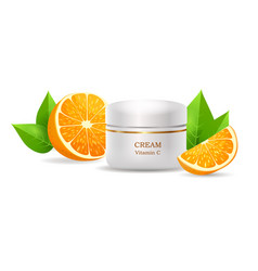 Cream with vitamin c in glossy tube vector