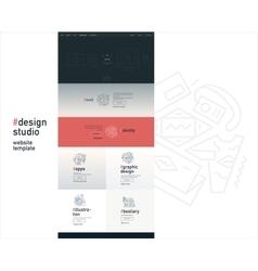 Design studio website template vector image