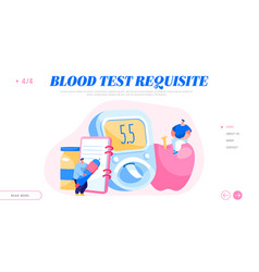 diabetes blood sugar level test at digital glucose vector image