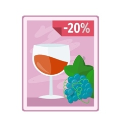 Discount on Alcohol Concept In Flat Design vector image