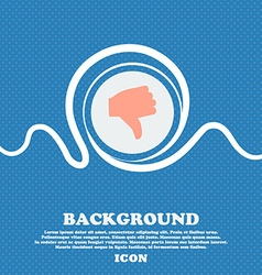 Dislike Thumb down sign icon Blue and white vector