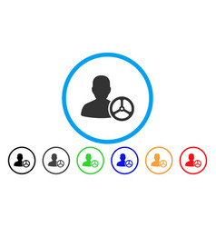 driver person rounded icon vector image