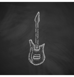 electric guitar icon vector image