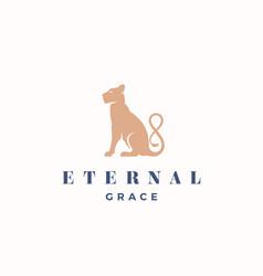 Eternal grace abstract sign emblem or logo vector