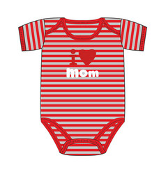 Fashion clothes for newborn boy vector
