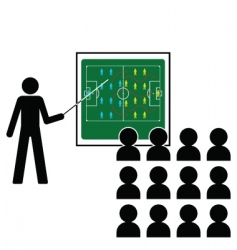 football team talk vector image