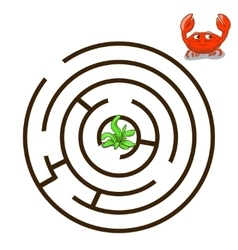 Game labyrinth find a way crab vector