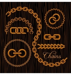 Golden chains on a dark background vector