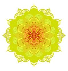 Hand drawing zentangle mandala element in vector